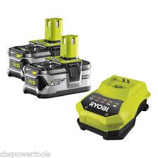 Ryobi RBC18L40/2 2 x 18v 4.0Ah Li-ion Batteries & Charger RB18L40 BCL1418H