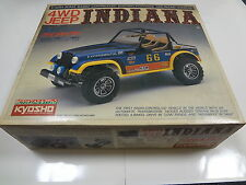 "SUPER RARE VINTAGE KYOSHO 1/10 Scale 4WD JEEP "" INDIANA ""  R/C KIT NIB"