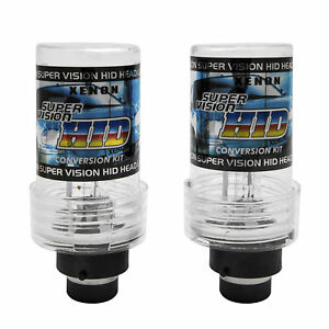 D2S 6000K HID XENON PAIR Two REPLACEMENT BULB Bright White Light New DS2 Lamp x2