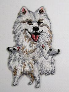 Samoyed dog heat seal embroidered badge