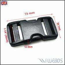 "30mm 1-1/4"" Webbing Dual Adjustable Side Release Buckle Strap Hiking Camping Bag"