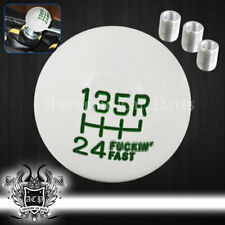 Universal M8 M10 M12 Adapter Round Ball Shift Knob Manual Engine White Green