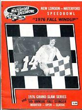 New London Waterford Speedbowl Auto Race Program 1976 Fall Windup
