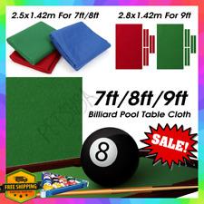 Professional Billiard Pool Table Cloth Mat Cover Felt Accessories 7/8/9 Ft Foot