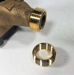 Water Meter Thread Adapter Bushings, 5/8 x 1/2 Meter to 3/4 Meter Threads A12