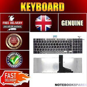 New TOSHIBA SATELLITE C850D-11F Laptop Keyboard Black UK Silver Frame