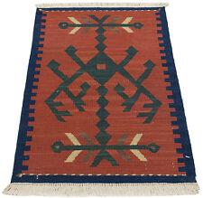 ITA-3398- kilim mongolia-Lana-Cotone Offerta Occasione 52x38 CM  Farah1970