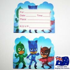 10 x PJ Masks Birthday Invitation Cards Themed Party card invitations AU stock