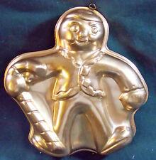 Vintage Gingerbread Man w/Candy Cane Cake Pan Jello Mold Copper Color home Decor