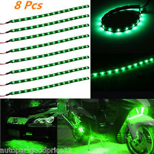 8pc 15LED 30cm Car Grill Flexible Waterproof Light Strip/Interior Decor Lamp 12V