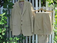 Vintage Jc Penney By George 3 pc tan corduroy suit sport coat vest pants 42 L