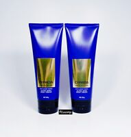 2 Bath & Body Works Cypress Men's Collection Ultra Shea Cream for Body 8 oz NEW