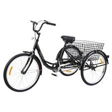 Ridgeyard 24 Zoll 3 Rad Dreirad Erwachsenendreirad  Fahrrad Adult Trike Bicycle