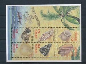 LO40808 Micronesia seashells conks sealife good sheet MNH