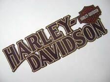 "HARLEY DAVIDSON BACK PATCH MOTORCYCLE BIKER JACKET VEST IRON ON LARGE 11.5"" NEW!"