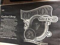 u1-5 ephemera 1971 original advert gordon giltrap a testament of time