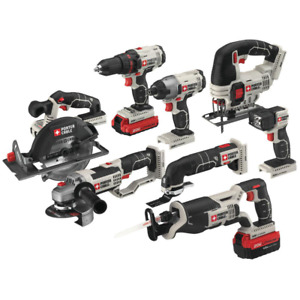 20-Volt MAX Lithium-Ion Cordless Combo Kit (8-Tool) with 4.0 Ah Battery, 1.5 Ah