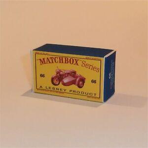 Matchbox Lesney 66 b Harley Davidson Motorcycle Bronze Empty Custom D Style Box