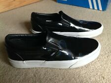 Vans Patent black slip on shoes 42 Uk 8.5 US 9.5