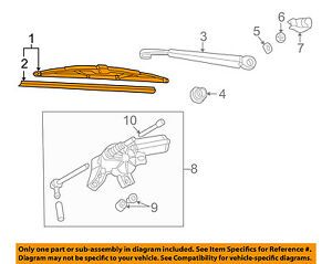 VW VOLKSWAGEN OEM 01-05 Jetta Wiper Washer-Lift Gate-Wiper Blade 3B9955427