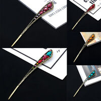 Chinese Style Hair Pin Metal Flower Kanzashi Pearl Hair Stick Pins Accessories