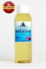 GRAPESEED OIL ORGANIC by H&B Oils Center COLD PRESSED PREMIUM 100% PURE 2 OZ