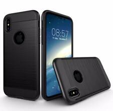 For iPhone X Shockproof Armor Metal Brushed Defender Box Case Accessories Black