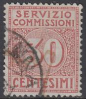 ITALY Regno - Servizio Commissioni Sassone n.1 cv 78$  used