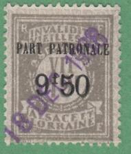 Alsace Lorraine Social Insurance Revenue #ALF144 used 9.50/19Fr 1936 cv $56
