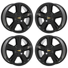"20"" CHEVROLET SILVERADO 1500 TRUCK BLACK WHEELS RIMS FACTORY OEM GM SET 4 5308"