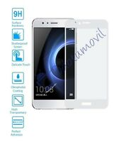 Protector de Pantalla Cristal Templado Curvo 3D para Huawei Honor 8 Blanco