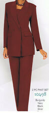 womens 2Pc Jacket & Pant Set.Plus Size Work Clothing,Church Suit,Career&Business