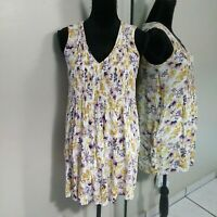 Old Navy Floral Tunic Blouse Top Womens size Small Sleeveless