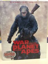 War for the Planet of the Apes (Blu-ray/DVD, 2017, 2-Disc Set, Digital) NEW