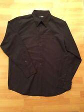 Men's Black Peter Werth Long Sleeve Shirt, Size 4
