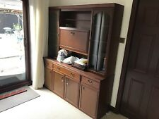 Wooden cabinet with drinks cabinet