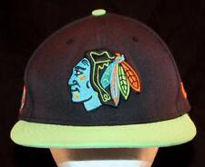MEN'S New Era Chicago BLACKHAWKS NHL Limited Neon Tomahawk Hockey Hat Cap USA