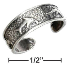 Adjustable Dolphin Toe Ring Sterling Silver 925 Best Deal Jewelry Usa Seller
