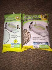 Breeze Odor Control Made Easy Refill Litter Pellets 3.5 Lb Bag and 4 Cat Pads