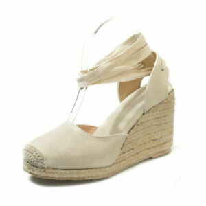 Womens Roman Platform Wedge High Heels Espadrille Lace Up Shoe Gladiator Sandals