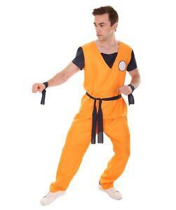 Orange Shirt Pants Belt for Cosplay Dragon Ball Z Goku Party Fancy Dress HC-1153
