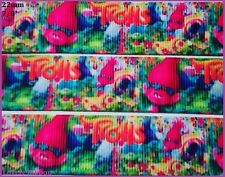1 metre, TROLLS, 22mm, Poppy, Ribbon, 7/8, Grosgrain, Baby, Hair, Sewing