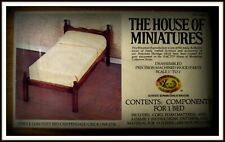 DOLLHOUSE HOUSE OF MINIATURES CHIPPENDALE SINGLE BED KIT, ANTIQUE REPLICA