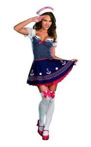 Dreamgirl Ship Happens Sailor Costume Cosplay Sexy Dress Womens Medium 7574 RWB