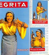 Publicité Pub Rhum Negrita Bardinet Bordeaux Pâtisserie thé grog lait 1937