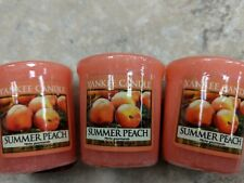 YANKEE CANDLE VOTIVE/SAMPLER SUMMER  PEACH (3) plus one free scented candle-#21