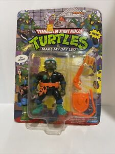 "TMNT 1991  ""MAKE MY DAY LEO""  MOC UNPUNCHED Teen Age Mutant Ninja Turtles"
