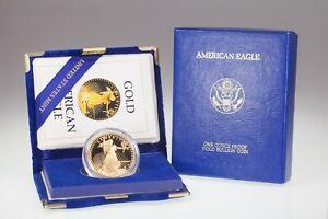1986-w Gold 1 Oz. American Eagle Proof w/ Case and CoA