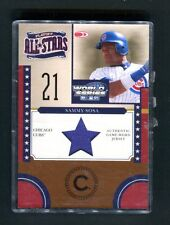 2004 Playoff All-Stars #PAS-2 Sammy Sosa Cubs Game-Worn Jersey jh6