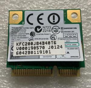 Toshiba PA3758U-1MPC Wireless WiFI Card for Laptops P/N G86c0004S410